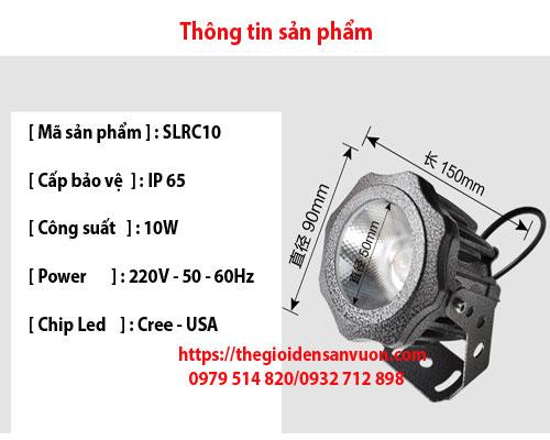 Đèn rọi cột cao áp SLRC10