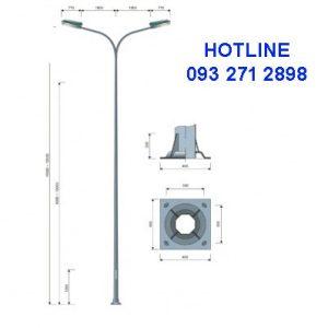 Cột đèn liên cần kép