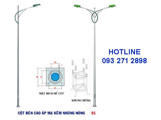 Cột đèn cao áp TK01