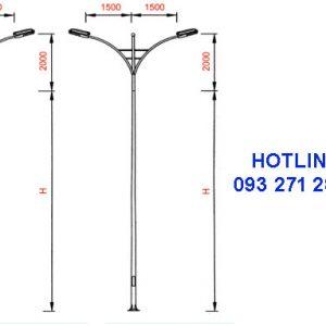 Cột đèn cao áp TK02