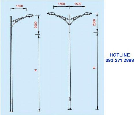 Cột đèn cao áp TK03