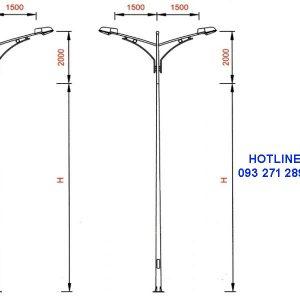 Cột đèn cao áp TK04