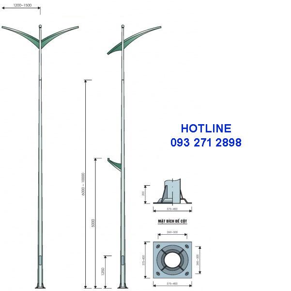 Cột đèn cao áp TK07