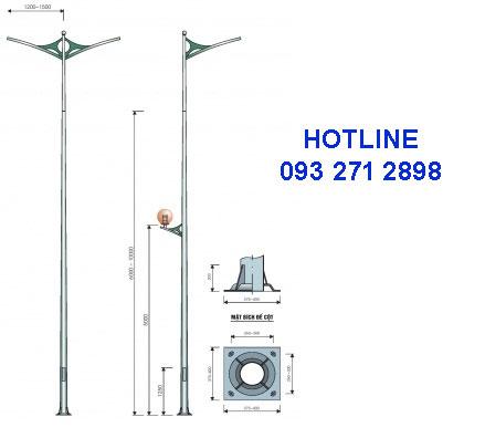 Cột đèn cao áp TK08
