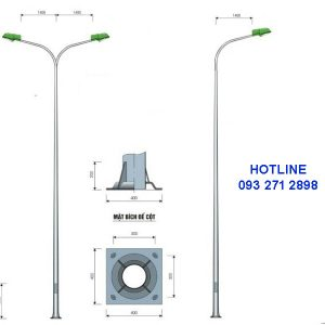 Cột đèn cao áp TK06