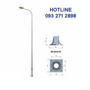 Cột đèn liền cần đơn