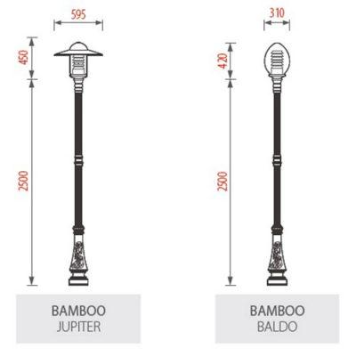Cột đèn sân vườn BamBoo