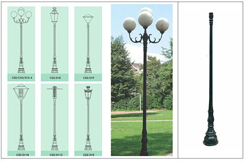 Cột đèn sân vườn DC02