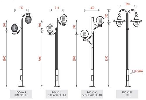 Cột đèn sân vườn DC10