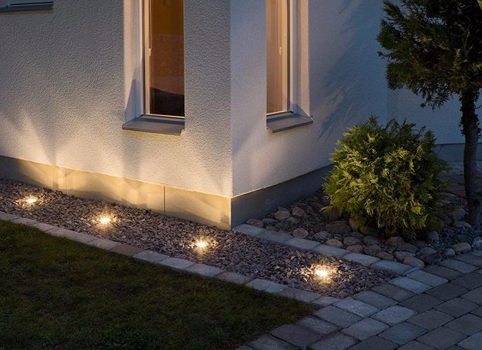 đèn led âm đất sân vườn